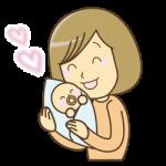 新潟市中央区で出産した女性のイラスト