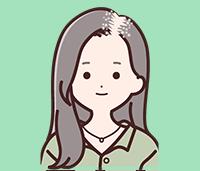 ひこう性脱毛症の図