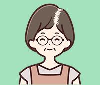 女子男性型脱毛症の図